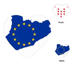 Catalonia European Union Flag Map  Playing Cards (Heart)