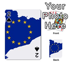 Catalonia European Union Flag Map  Playing Cards 54 Designs