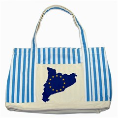 Catalonia European Union Flag Map  Striped Blue Tote Bag