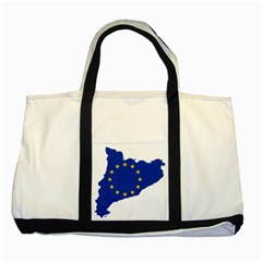 Catalonia European Union Flag Map  Two Tone Tote Bag