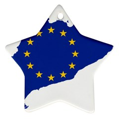 Catalonia European Union Flag Map  Star Ornament (Two Sides)