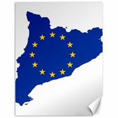 Catalonia European Union Flag Map  Canvas 12  x 16