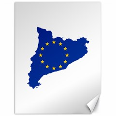 Catalonia European Union Flag Map  Canvas 18  x 24