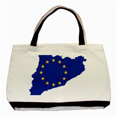 Catalonia European Union Flag Map  Basic Tote Bag (Two Sides)