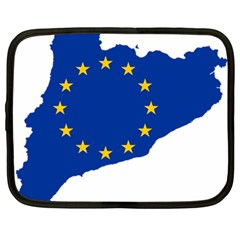 Catalonia European Union Flag Map  Netbook Case (Large)