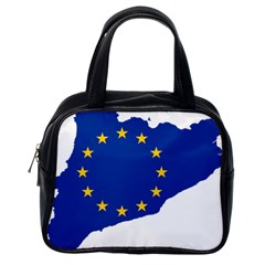 Catalonia European Union Flag Map  Classic Handbags (One Side)