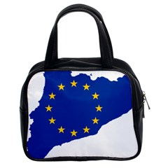 Catalonia European Union Flag Map  Classic Handbags (2 Sides)