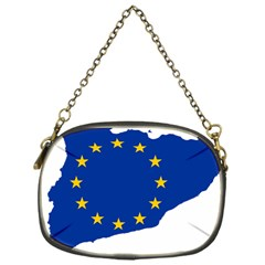 Catalonia European Union Flag Map  Chain Purses (One Side)