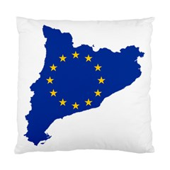 Catalonia European Union Flag Map  Standard Cushion Case (One Side)