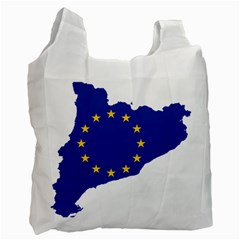 Catalonia European Union Flag Map  Recycle Bag (Two Side)