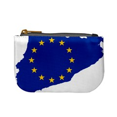 Catalonia European Union Flag Map  Mini Coin Purses