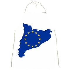 Catalonia European Union Flag Map  Full Print Aprons