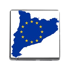 Catalonia European Union Flag Map  Memory Card Reader (Square)
