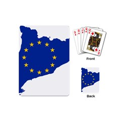 Catalonia European Union Flag Map  Playing Cards (Mini)