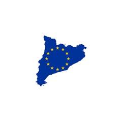 Catalonia European Union Flag Map  Shower Curtain 48  x 72  (Small)