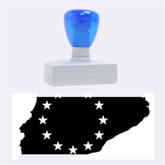 Catalonia European Union Flag Map  Rubber Stamps (Large)