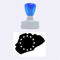 Catalonia European Union Flag Map  Rubber Oval Stamps