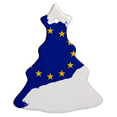 Catalonia European Union Flag Map  Christmas Tree Ornament (2 Sides)