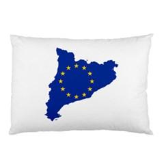 Catalonia European Union Flag Map  Pillow Case (Two Sides)