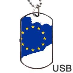 Catalonia European Union Flag Map  Dog Tag USB Flash (Two Sides)