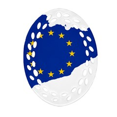 Catalonia European Union Flag Map  Ornament (Oval Filigree)