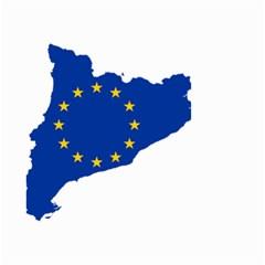 Catalonia European Union Flag Map  Small Garden Flag (Two Sides)