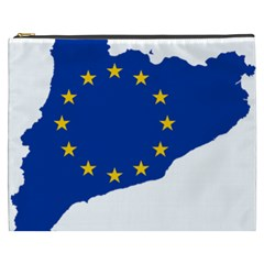 Catalonia European Union Flag Map  Cosmetic Bag (XXXL)