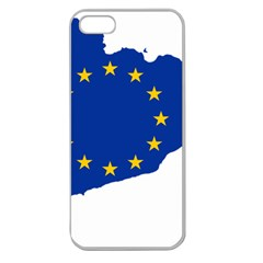 Catalonia European Union Flag Map  Apple Seamless iPhone 5 Case (Clear)