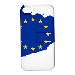 Catalonia European Union Flag Map  Apple iPhone 4/4S Hardshell Case with Stand