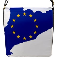 Catalonia European Union Flag Map  Flap Messenger Bag (S)