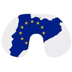 Catalonia European Union Flag Map  Travel Neck Pillows
