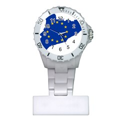 Catalonia European Union Flag Map  Plastic Nurses Watch