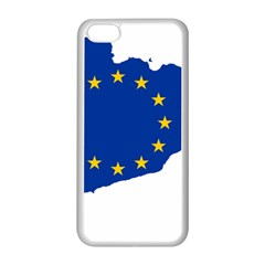 Catalonia European Union Flag Map  Apple iPhone 5C Seamless Case (White)