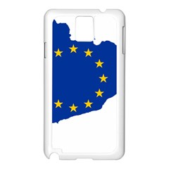 Catalonia European Union Flag Map  Samsung Galaxy Note 3 N9005 Case (White)