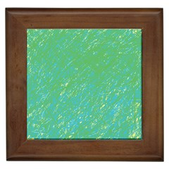 Green pattern Framed Tiles