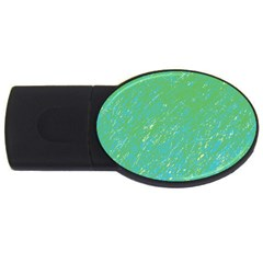 Green pattern USB Flash Drive Oval (2 GB)