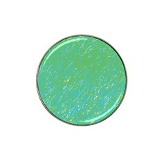 Green pattern Hat Clip Ball Marker (4 pack)