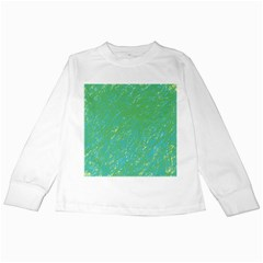 Green pattern Kids Long Sleeve T-Shirts