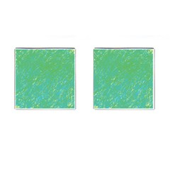 Green pattern Cufflinks (Square)