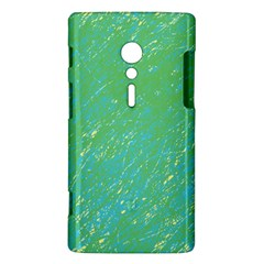 Green pattern Sony Xperia ion