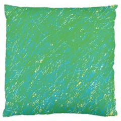 Green pattern Large Cushion Case (Two Sides)
