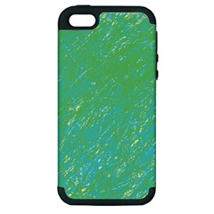 Green pattern Apple iPhone 5 Hardshell Case (PC+Silicone)