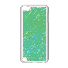 Green pattern Apple iPod Touch 5 Case (White)