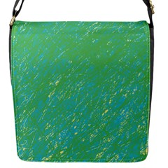 Green pattern Flap Messenger Bag (S)