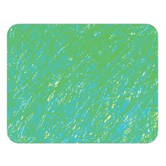Green pattern Double Sided Flano Blanket (Large)