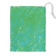 Green pattern Drawstring Pouches (XXL)
