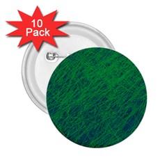 Deep green pattern 2.25  Buttons (10 pack)