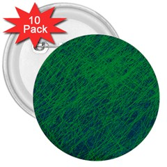 Deep green pattern 3  Buttons (10 pack)