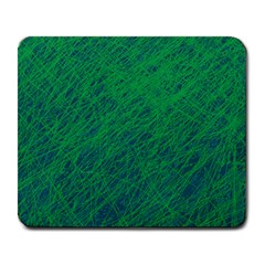 Deep green pattern Large Mousepads
