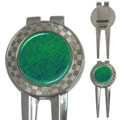 Deep green pattern 3-in-1 Golf Divots